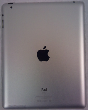 Aluminum back of the iPad 2