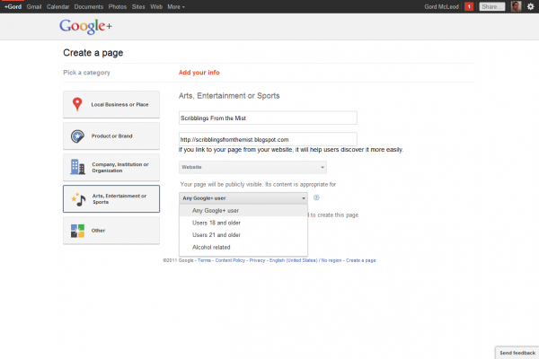 Google+ Page User Restrictions