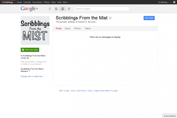 Google+ Page Done