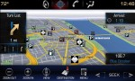 Cadillac CUE integrates interior design with industry-first control and command technologies. It will debut in 2012 in the ATS and XTS luxury sedans and SRX luxury crossover. The 3D navigation has day/night modes, travel and traffic information, weather horizons and voice recognition. (Day mode shown.)