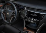 Cadillac CUE integrates interior design with industry-first control and command technologies. It will debut in 2012 in the ATS and XTS luxury sedans and SRX luxury crossover, and features a 1.8 liter storage compartment behind the main system touch screen. The compartment features a USB port and wireless Bluetooth connections for devices and smartphones.