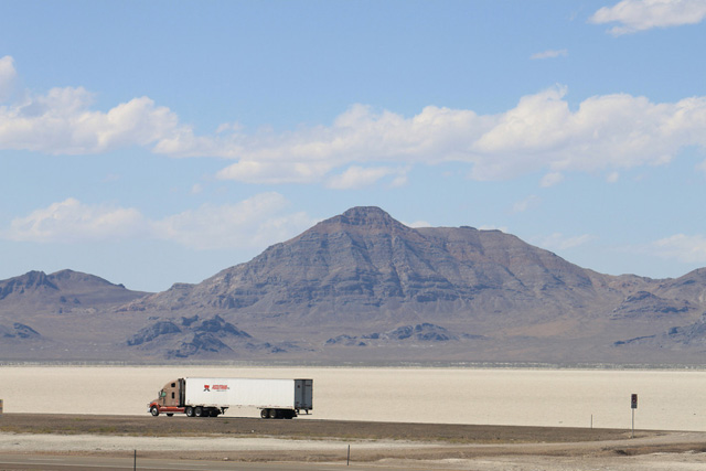 Bonnevile Salt Flats off I-80