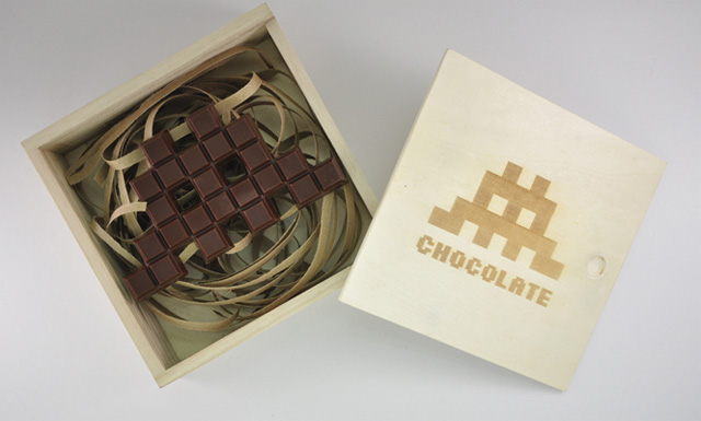 Chocolate Invader in box
