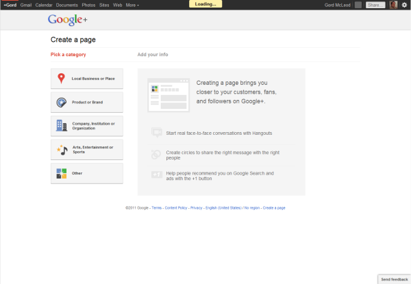 Google+ Pages