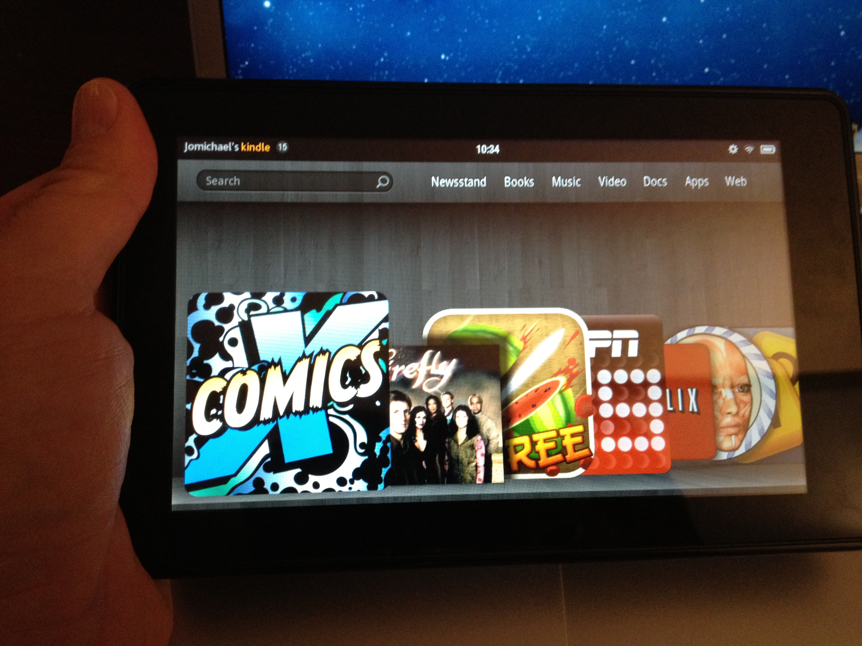 Kindle Fire Home Screen