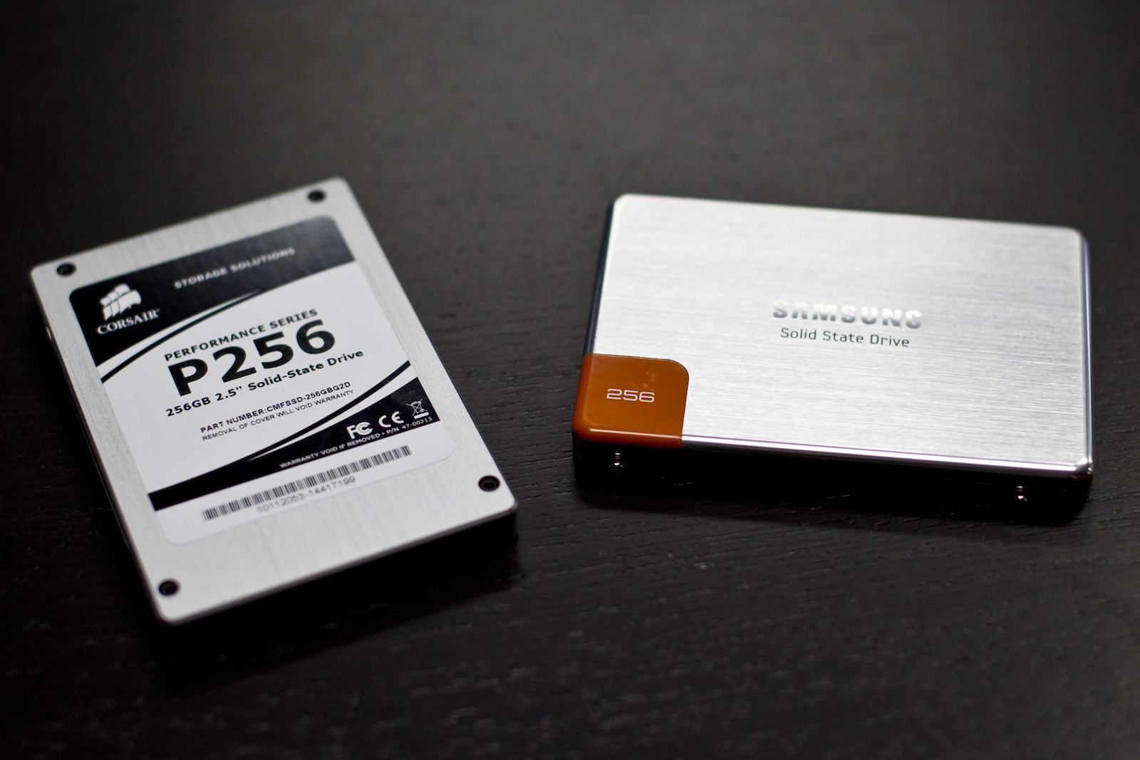 Samsung 470 Series and Corsair SSDs