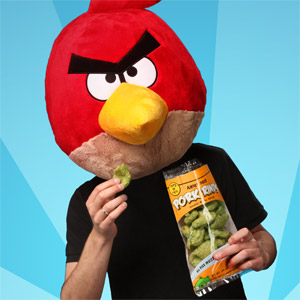 ThinkGeek April Fools Day Angry Birds Pork Rinds
