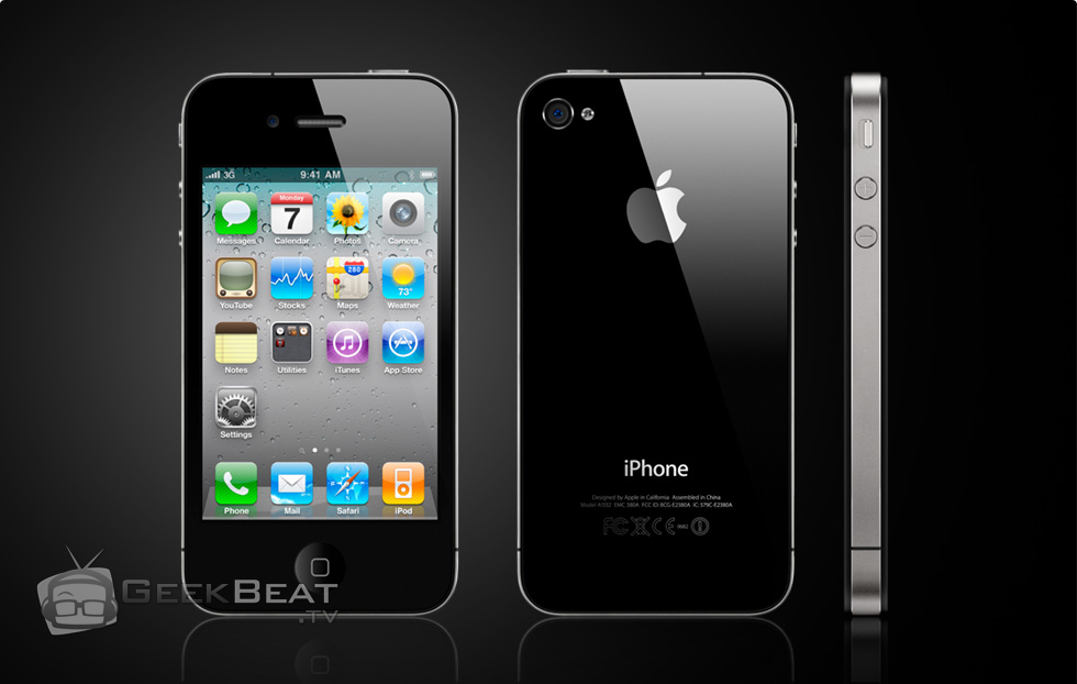 iPhone 4S with GeekBeat Watermark