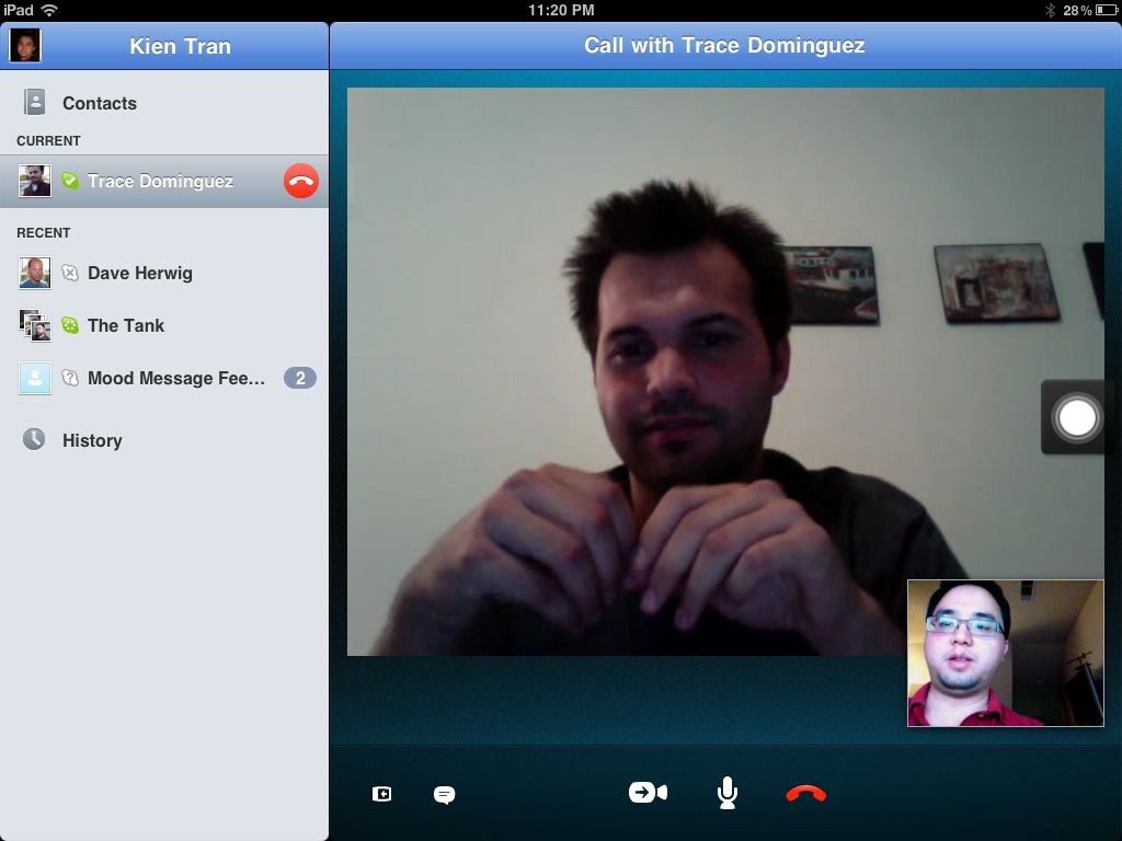 Skype Call on iPad