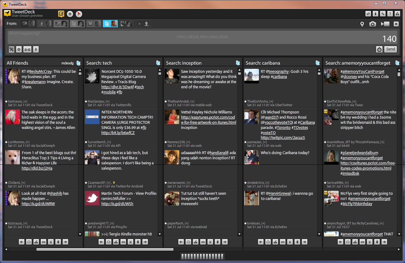 TweetDeck User Stream Preview Client