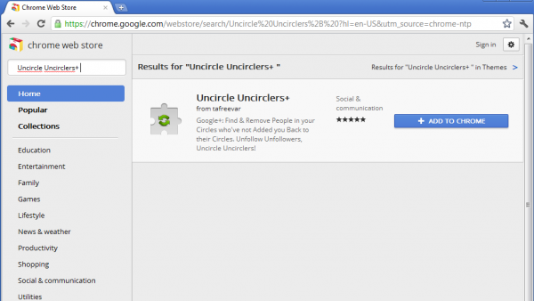 Chrome Web Store screenshot