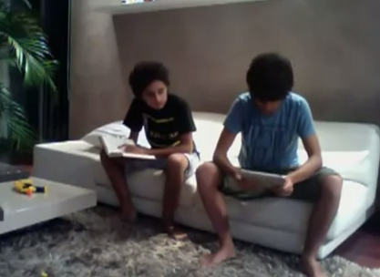Kid hits Little Brother With An iPad