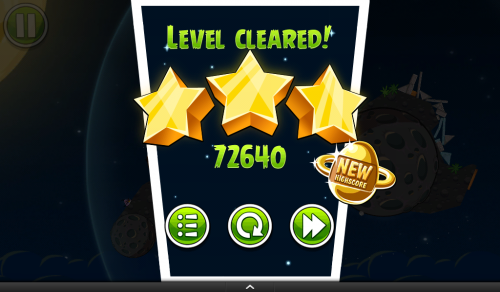 Angry Birds Space - 3 Stars High Score