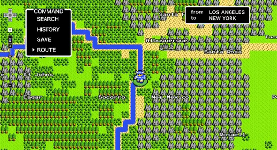 Google Maps Quest in 8-Bit with the Knight