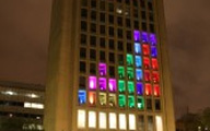 Tetris on an MIT building