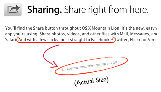 Facebook Sharing - No, You Can't Yet!