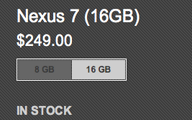 Nexus 7 16GB Back in Stock