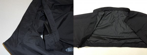 Left view- showing sleeves partially unattached. Right view- showing the interface points and concealed magnets