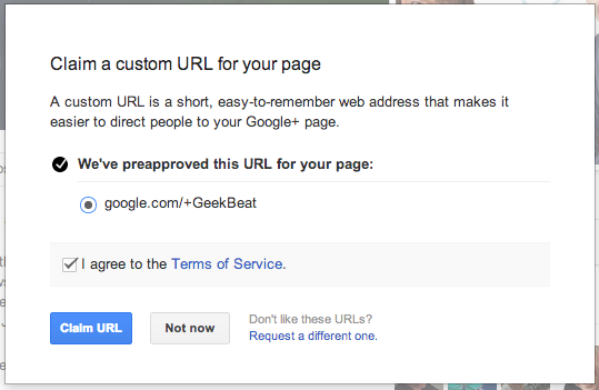 Custom URL 2nd Step