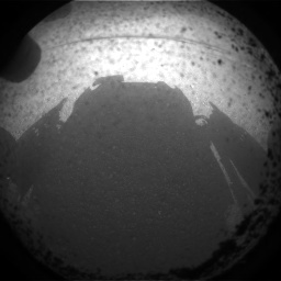 Mars Curiosity's Shadow on Mars