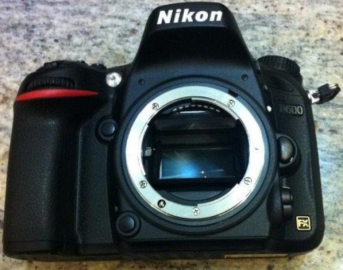Front of the Nikon D600