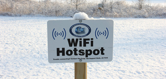 WiFi Hotspot in the Cold