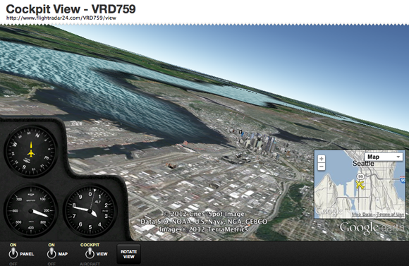 Flightradar 24 cockpit view