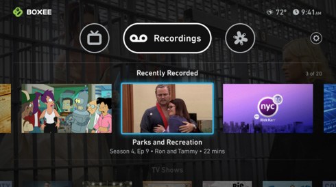 Boxee TV screenshot