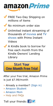 Amazon Prime Sidebar