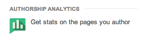 Google Authorship Analytics