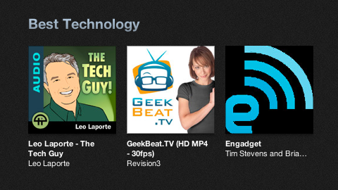 Apple iTunes Best Podcasts of 2012
