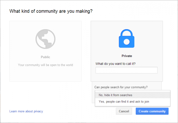 Create a Private Community