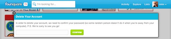 Foursquare confirm Password sm
