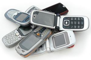 Pile of Flip Phones