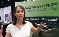 Cali Lewis with Compaction Technologies Trash Can