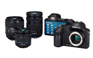 Samsung Galaxy NX camera and lenses
