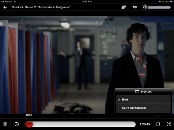 Chromecast for Netflix on iPad