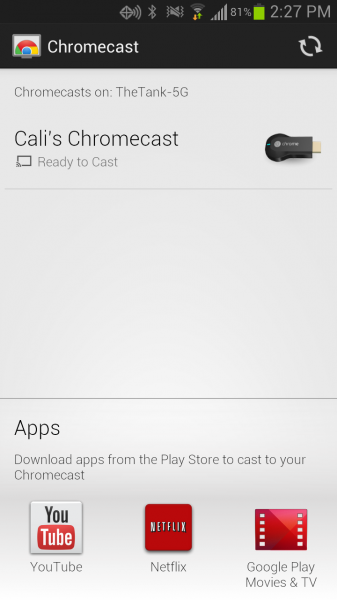 Chromecast on Android