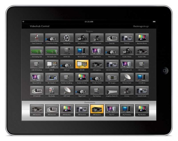 Blackmagic Design Smart Videohub iPad App