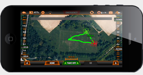 Parrot AR Drone Flight Recorder Map