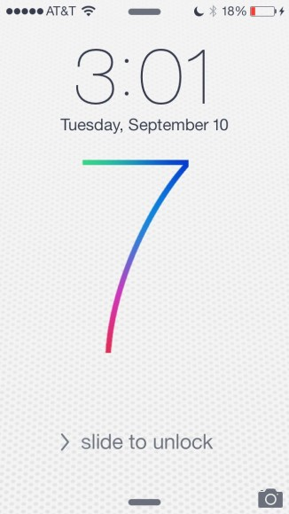 iOS7 Lock Screen