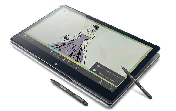 Acer Aspire R7-572 notebook as tablet