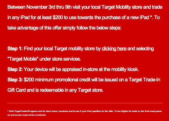 Target iPad Credit Rules - Updated