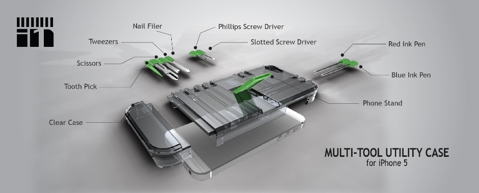 Exploded view of multi-tools