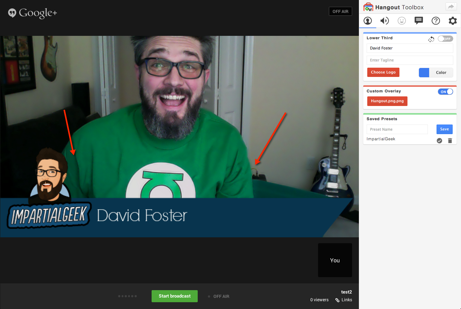 Google Hangout Lower Third