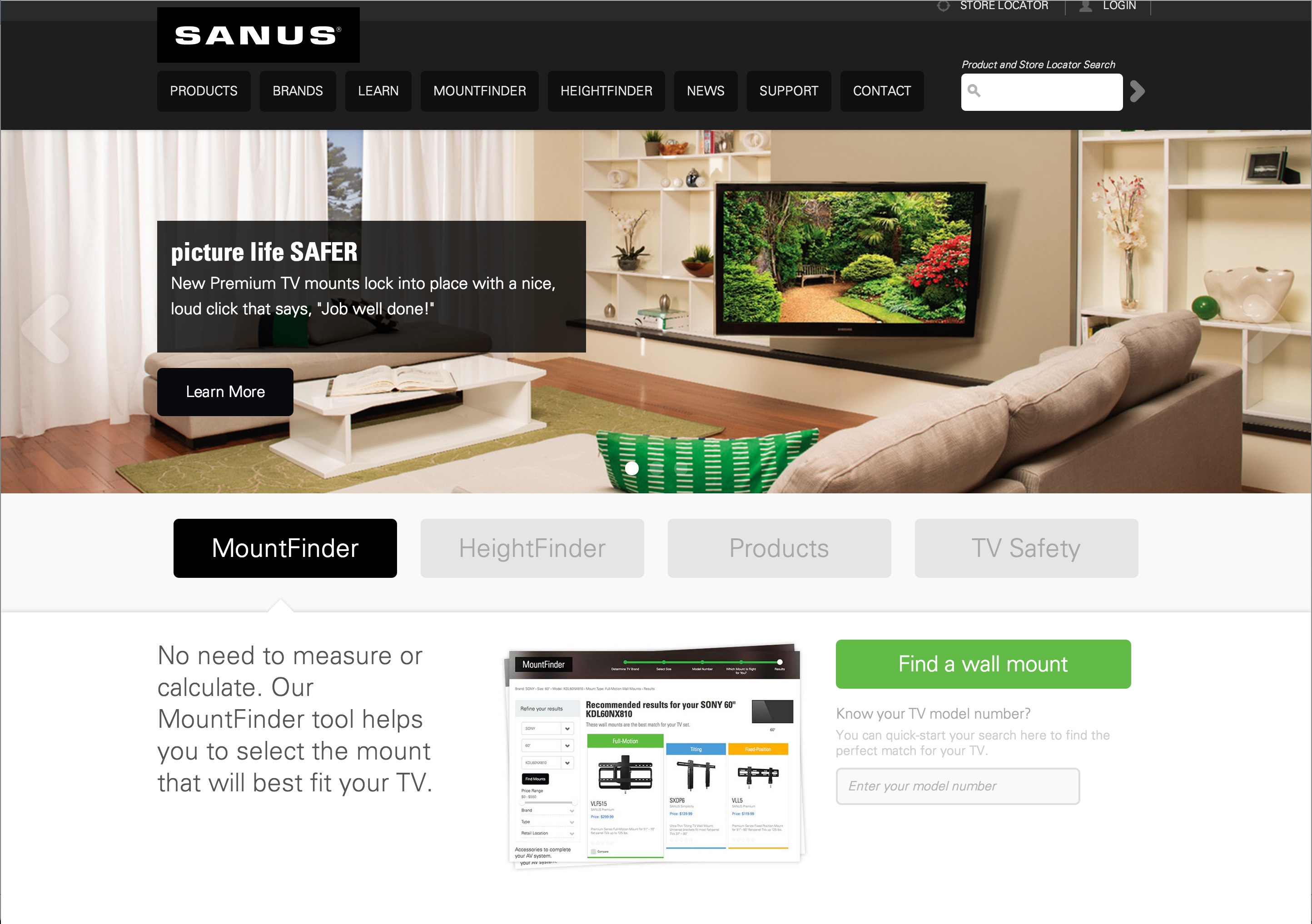 Sanus-website
