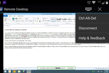 Google remote desktop for Android screenshot