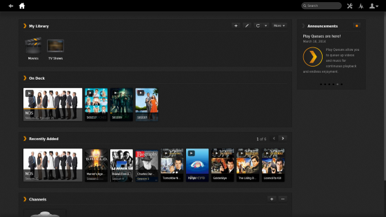 Plex Main Screen