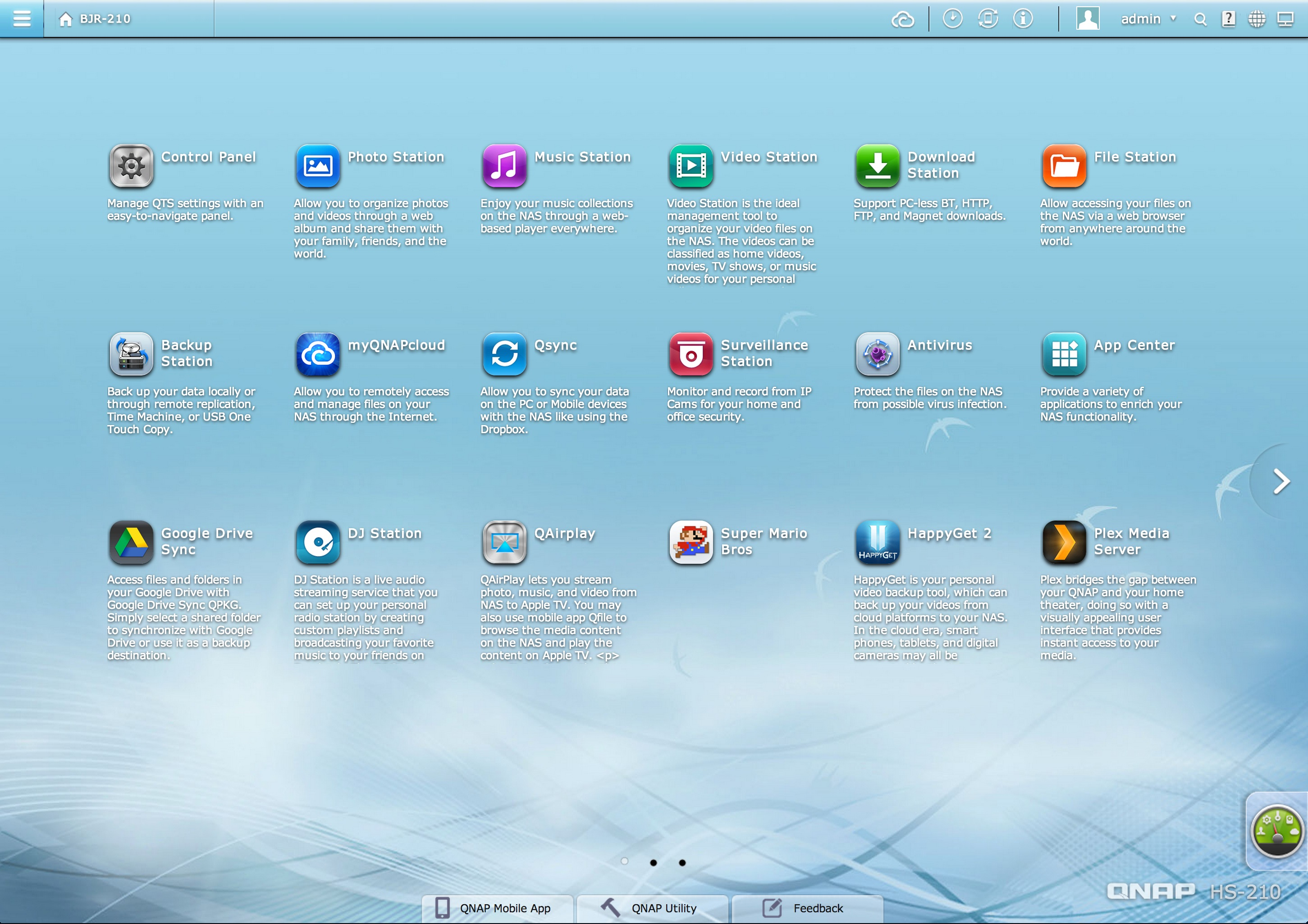 QNAP-QTS-Home-Screen-iTunes-Server