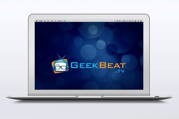 Geek Beat TV wallpaper on a laptop